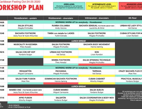 The workshop schedule for OCF 2020