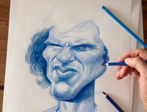 OCF Art: Caricature exposition by Esteban Isnardi